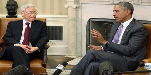 Tổng bí thư Nguyễn Phú Trọng hội đàm Tổng thống Barack Obama