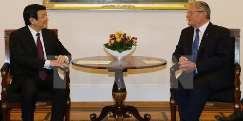 Chủ tịch nước Trương Tấn Sang hội đàm với Tổng thống CHLB Đức