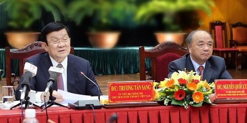 Chủ tịch nước làm việc với Trung ương Hội Nông dân Việt Nam