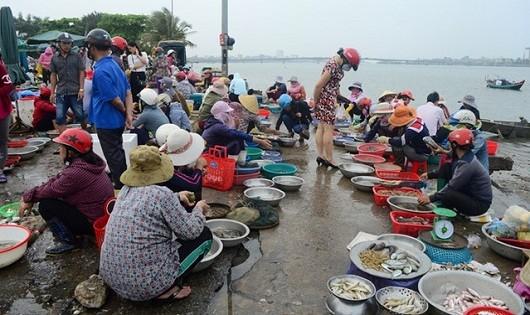 Từ chợ ven biển cho tới chợ trong phố đều… vắng khách mua hải sản.
