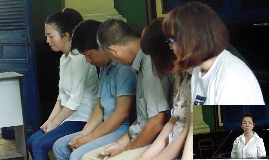 5 bị cáo vô cùng hối hận tại phiên tòa.
