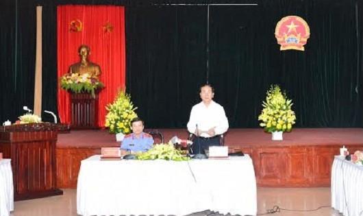 Chủ tịch nước Trần Đại Quang phát biểu tại buổi làm việc với VKSNDTC.