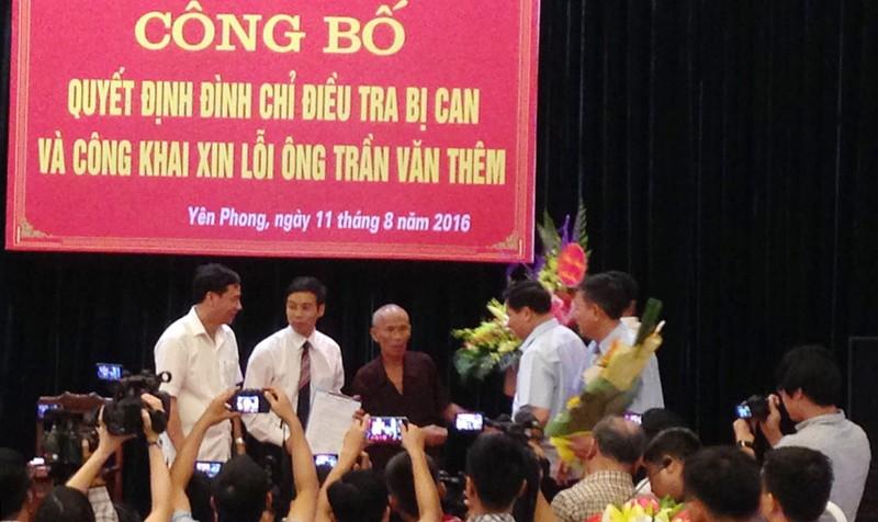 Cảm động buổi công khai xin lỗi tử tù Trần Văn Thêm