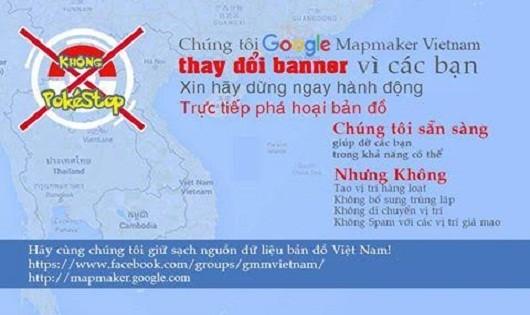 Cảnh báo của Google Map Maker Việt Nam đối với những người vì game Pokemon Go mà thay đổi bản đồ Google Map.