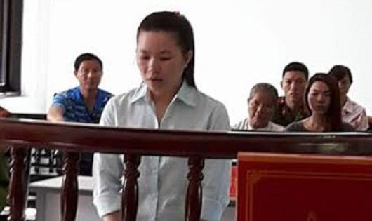 Bị cáo Phan Thị Dàng tại phiên tòa xét xử.