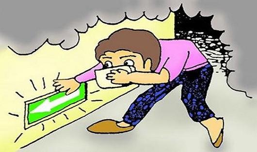 Cách thoát chết nếu gặp sự cố như đám cháy phố Trần Thái Tông
