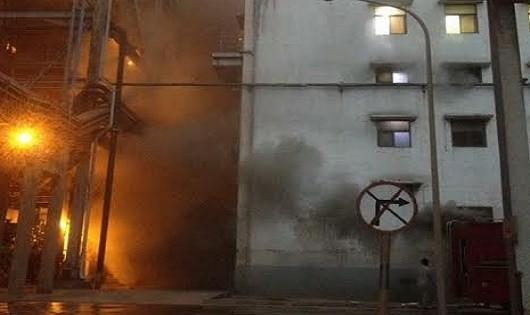 TKV lên tiếng vụ cháy Nhà máy Nhiệt điện Cẩm Phả