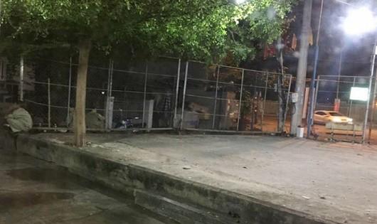 Khu vực xảy ra vụ truy sát của 2 nhóm thanh niên khiến 1 người tử vong (Ảnh: CTV)
