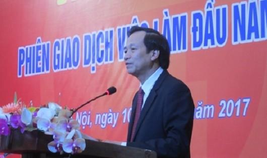 Bộ trưởng Bộ Lao động - Thương binh và Xã hội Đào Ngọc Dung phát biểu tại lễ khai mạc