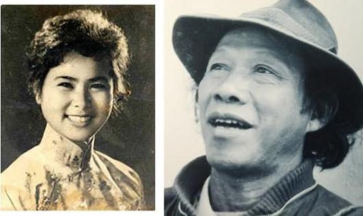 Hai cố nhà thơ Xuân Quỳnh và Thu Bồn.