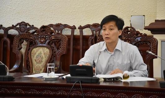 Thứ trưởng Nguyễn Khánh Ngọc tại cuộc họp.
