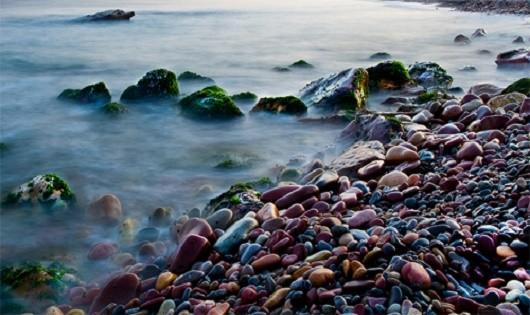 Tảng đá tự nhiên có hình giống hệt bản đồ Việt Nam.