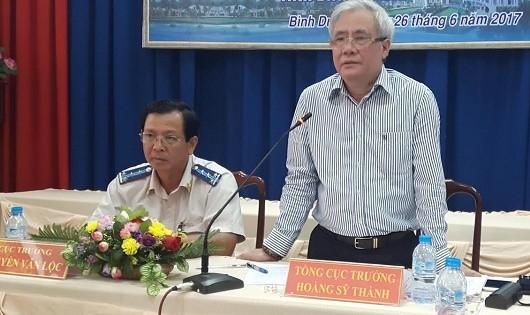 Tổng cục trưởng Tổng cục THADS Hoàng Sỹ Thành phát biểu tại buổi làm việc.