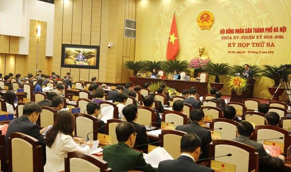 Kỳ họp thứ 4, HĐND TP Hà Nội.