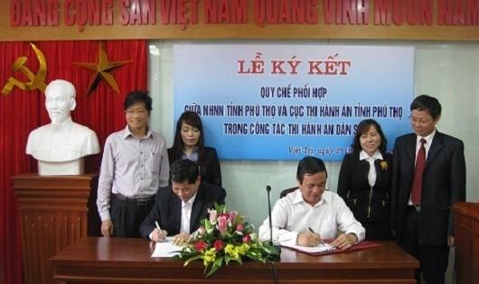 Một lễ ký kết quy chế phối hợp.