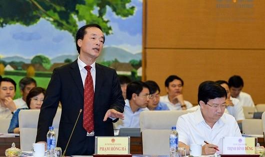 Bộ trưởng Bộ Xây dựng Phạm Hồng Hà trả lời chất vấn