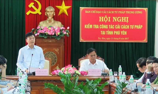 Bộ trưởng Lê Thành Long nhấn mạnh việc cải cách tư pháp cần bám sát với yêu cầu của Ban Chỉ đạo Trung ương.
