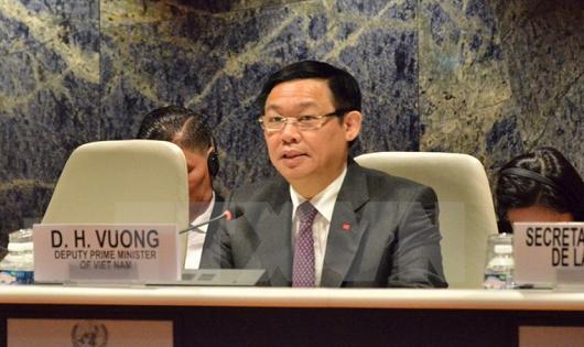 Phó Thủ tướng Chính phủ Vương Đình Huệ tham dự và phát biểu tại Phiên họp lần thứ 64 Ủy ban Thương mại và Phát triển của Hội nghị Liên hợp quốc về Thương mại và Phát triển (UNCTAD).