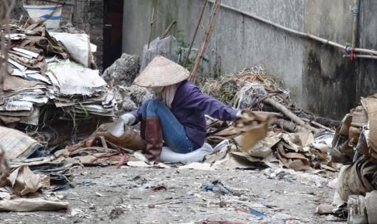 Làng nghề tái chế ở Tiên Dược, Sóc Sơn gây ô nhiễm.