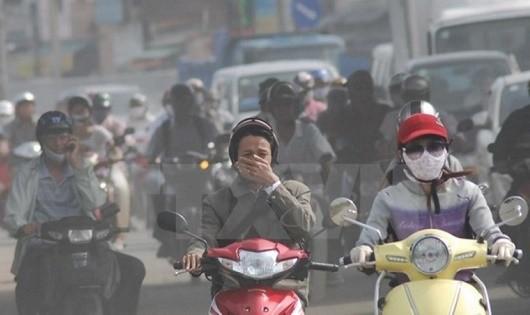 Không khí tại Hà Nội đang bị ô nhiễm.