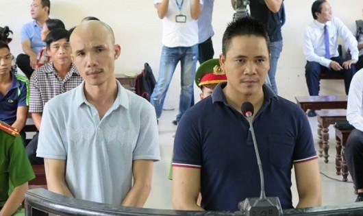 Hai bị cáo tại phiên xử ngày 26/9.