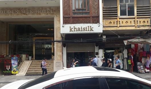 Cửa hàng khăn lụa khải silk tại 113 Hàng Gai.