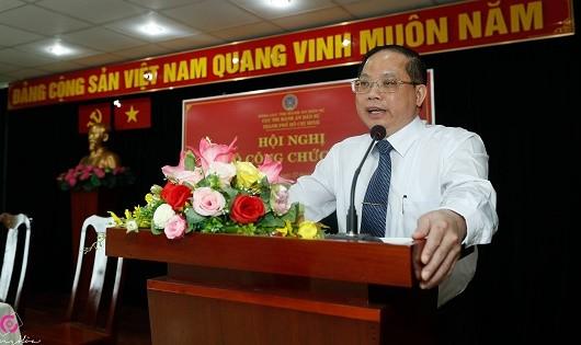 Cục trưởng Vũ Quốc Doanh phát biểu tại Hội nghị.