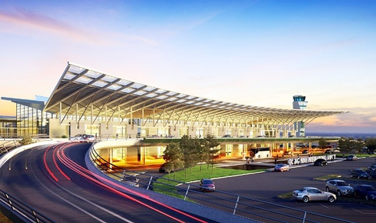 Phối cảnh nhà ga Cảng hàng không Quảng Ninh. Ảnh: Phan Trang