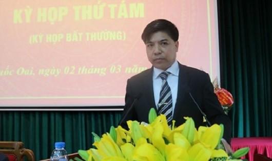 Đồng chí  Đỗ Huy Chiến – Phó Bí thư Huyện ủy, Chủ tịch UBND Quốc Oai. (Ảnh: KT)