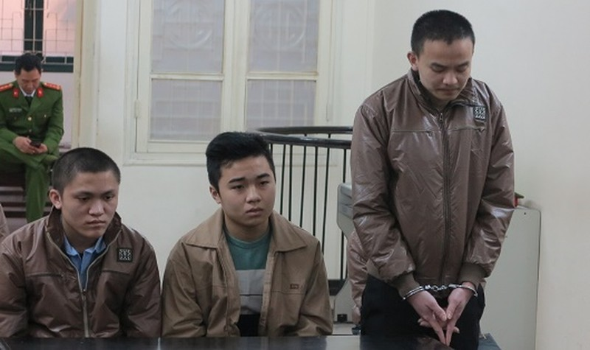 Các bị cáo tại tòa