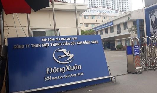 Nhà máy Dệt kim của Công ty TNHH một thành viên Dệt kim Đông Xuân trên đường Minh Khai.