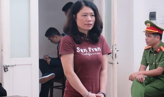 Bị cáo Hương tại tòa.