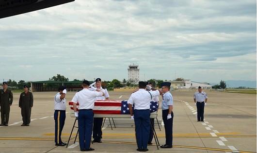 Việt Nam bàn giao thêm cho Mỹ 3 bộ hài cốt quân nhân mất tích