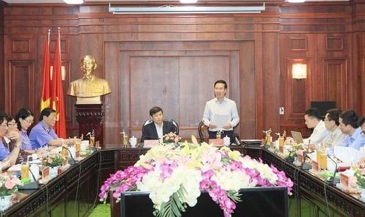 Đoàn công tác của Bộ Chính trị làm việc với Ban Cán sự Đảng VKSND Tối cao