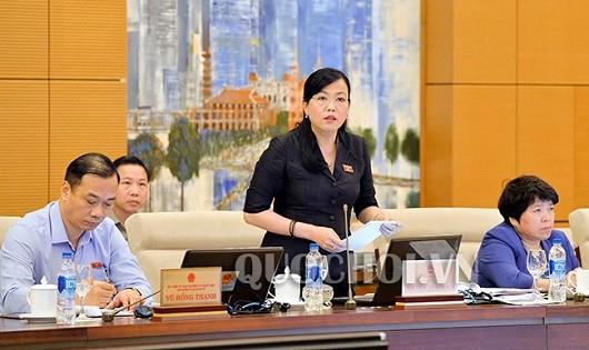 Trưởng ban Dân nguyện của Quốc hội Nguyễn Thanh Hải phát biểu tại phiên họp.