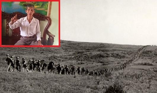 10 tuổi ông Sơn (ảnh nhỏ) đã là liên lạc, 14 tuổi du kích xã, 17 tuổi tham gia lực lượng biệt động Quân Giải phóng.