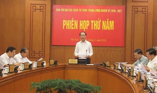 Chủ tịch nước Trần Đại Quang chủ trì phiên họp.
