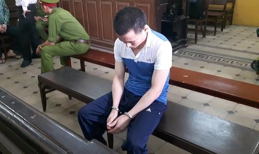 Ảnh bị cáo Bình tại phiên tòa.