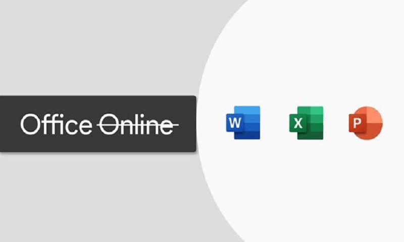 Microsoft thay đổi thương hiệu Office Online