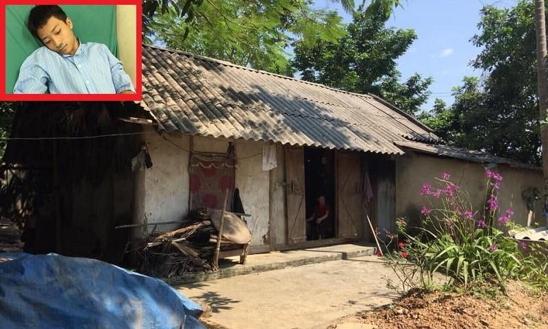 Phúc sinh sống với bà nội hơn 90 tuổi trong căn nhà tồi tàn. (Ảnh: HBHG)