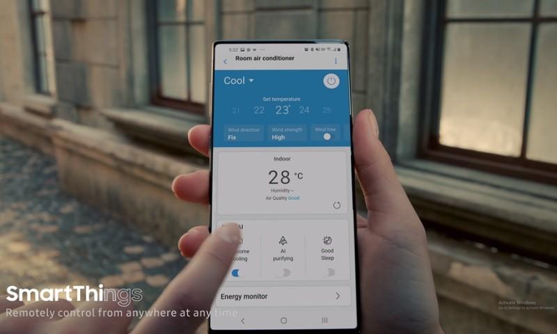 Rò rỉ hình ảnh Galaxy Note 20 trong video quảng cáo máy lạnh