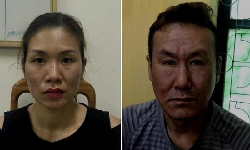 Cặp vợ chồng Tuấn Anh và Nga vừa ra tù được vài tháng lại tiếp tục bị bắt giữ.