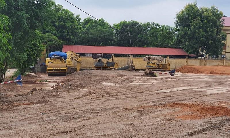Công ty Bảy Tùng đang thực hiện Dự án tại xã Tam Phúc.
