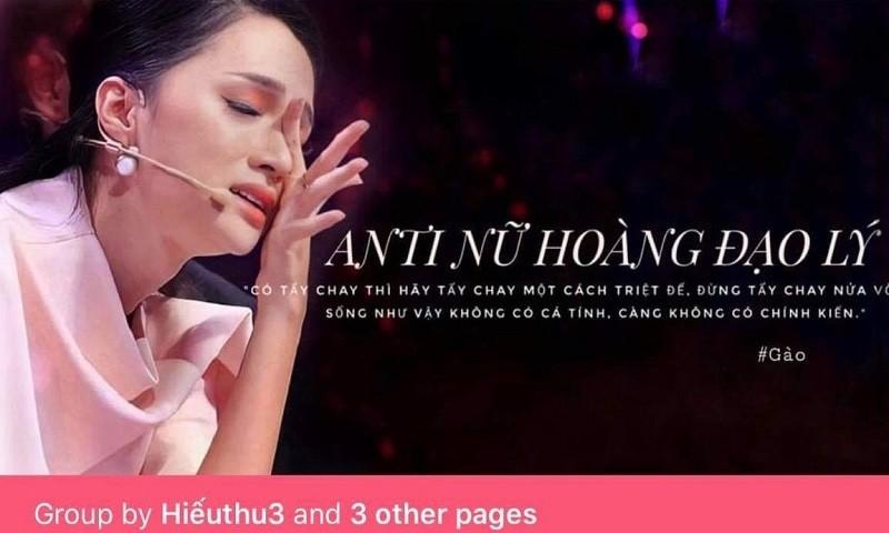 Nhóm anti ca sĩ Hương Giang trên Facebook.  (Ảnh minh họa).
