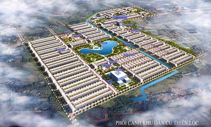 Phối cảnh khu dân cư Thiên Lộc tại Thành phố Sông Công.