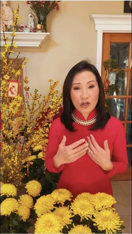"""Nhân dịp đầu năm Tân Sửu, Hồng Đào cũng gửi lời chúc đến quý vị khán giả gần xa: """"Một năm mới dồi dào sức khoẻ, công việc hanh thông, hạnh phúc tràn trề"""". (Ảnh chụp màn hình) - Tin sao Viet - Tin tuc sao Viet - Scandal sao Viet - Tin tuc cua Sao - Tin cua Sao"""