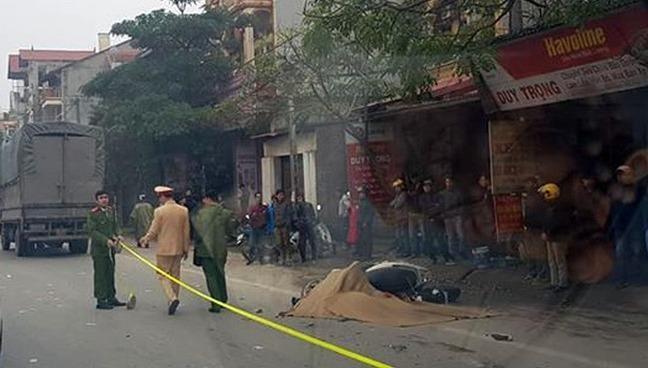 Xe tải tông một phụ nữ ở Vĩnh Phúc thiệt mạng