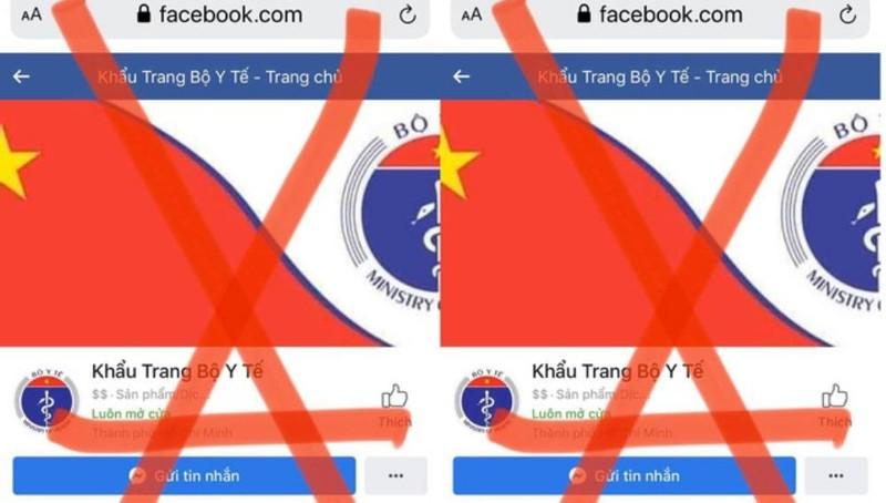 Nhiều Facebook giả mạo Bộ Y tế để rao bán khẩu trang