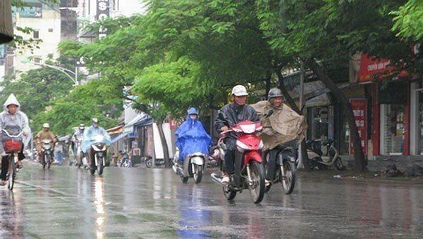 Ngày 5/4, không khí lạnh tiếp tục gây mưa dông ở Bắc Bộ