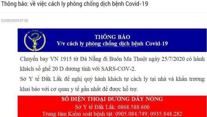 Truy tìm hành khách chuyến bay VN1915 từ Đà Nẵng đi Buôn Ma Thuột